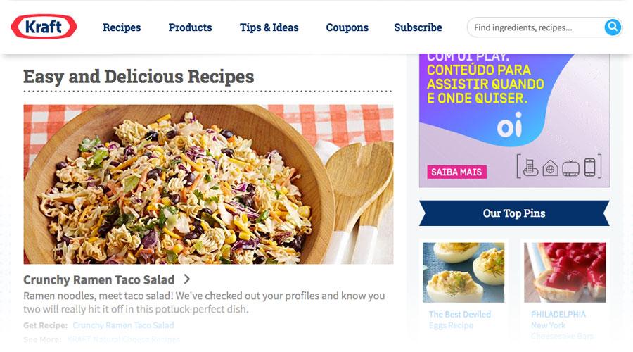 Blog da marca Kraft