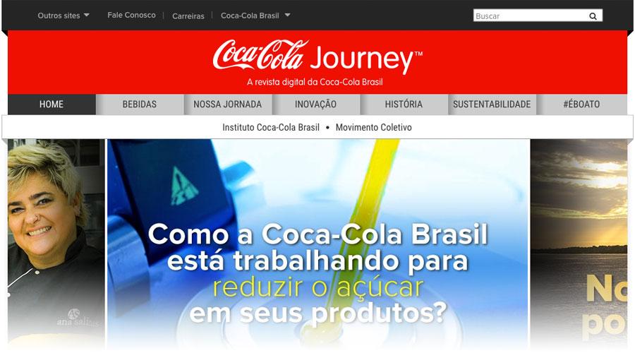 Site de conteúdo da Coca-Cola